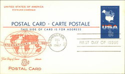 United States of America International Rate 8 Cent Postal Card - 1967