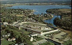 Aerial View of Maine State Prison with Georges River and Harbor