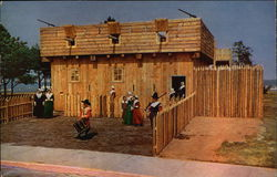 Reproduction of the Pilgrim First Fort and Meeting House