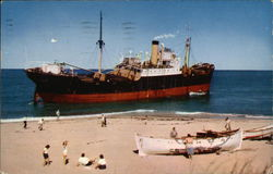 Freighter Aground at Peacked Hill Bars