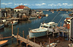 The Basin, Landlocked Harbor of Menemsha Fishing Village on Picturesque Martha's Vineyard Island