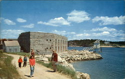 Historic Fort Popham At Popham Beach, Maine