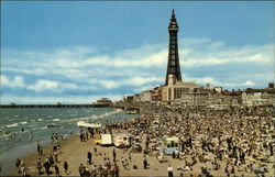 The Beach and Tower Postcard