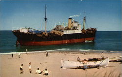 Freighter Aground at Peaked Hill Bars, Cape Cod