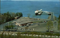 "Bar Harbor Terminal with Yarmouth-Bar Harbor Ferry ""Bluenose"" in Dock"