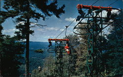 Aerial Chairlift, Mt. Sunapee State Park Postcard