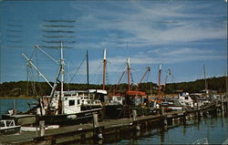 Fishing Boats at Wellfleet Harbor Postcard