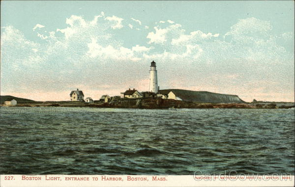 Boston Light, Entrance to Harbor Massachusetts