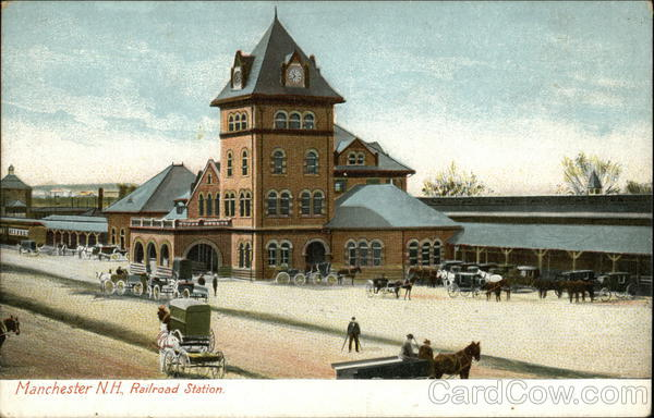 Railroad Station Manchester New Hampshire Depots