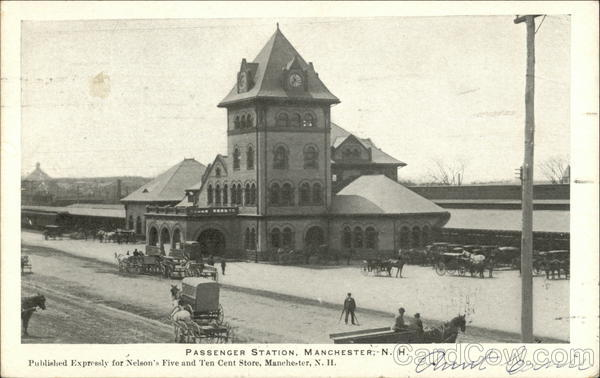 Passenger Station Manchester New Hampshire Depots