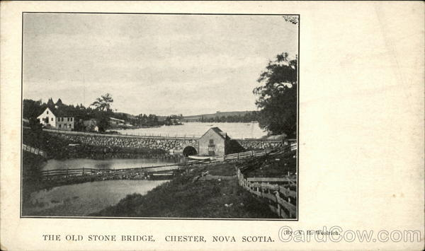 The Old Stone Bridge Chester Canada Nova Scotia