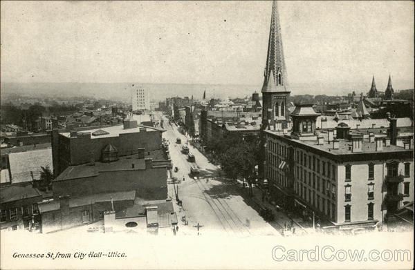 Genessee St. from City Hall Utica New York