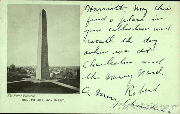 Bunker Hill Monument - National Educational Association 1903 Charlestown Massachusetts