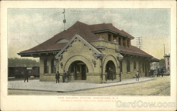 Erie Railroad Station Middletown New York Depots