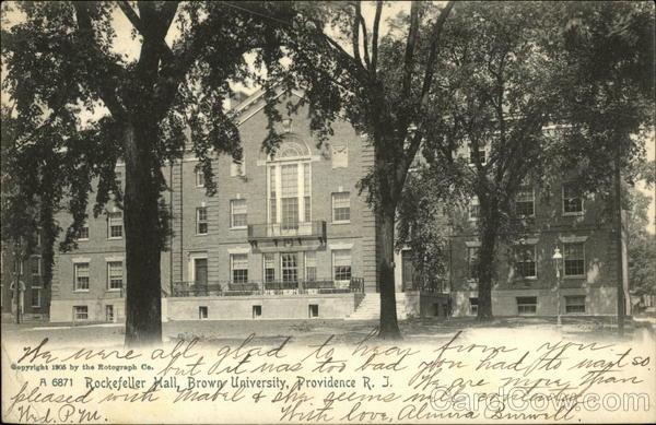Rockefeller Hall, Brown University Providence Rhode Island