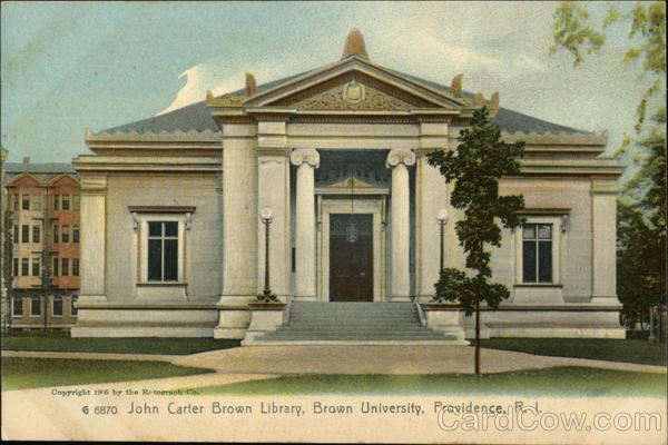 Brown University - John Carter Brown Library Providence Rhode Island