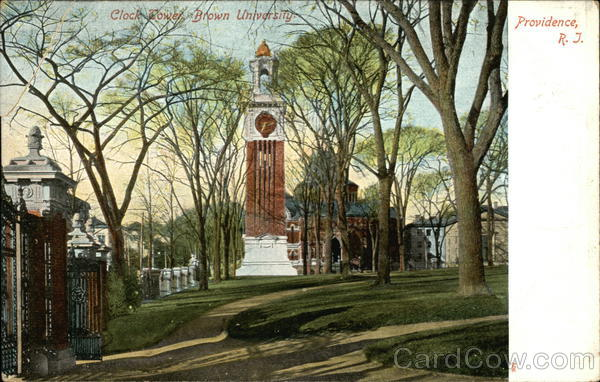 Brown University - Clock Tower Providence Rhode Island