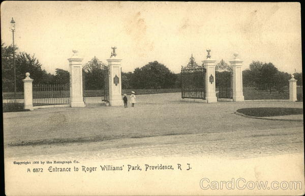 Entrance to Roger Williams' Park Providence Rhode Island