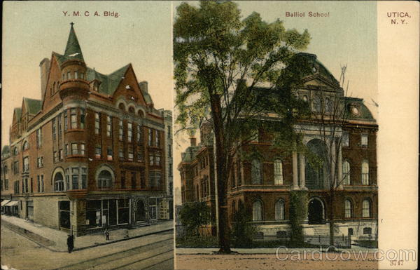 Y.M.C.A. Building and Balliol School Utica New York