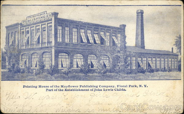 Printing House of the Mayflower Publishing Company Floral Park New York