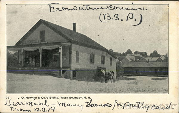 J. O. Howard & Co.'s Store West Swanzey New Hampshire