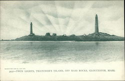 Twin Lights, Thatchers Island off Bass Rocks