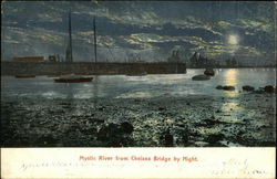 Mystic River from Chelsea Bridge at Night