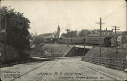 Athol R.R. Station Looking from School Street