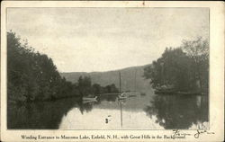 Winding Entrance to Mascoma Lake Postcard