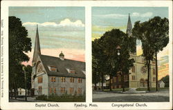 Baptist and Congregational Churches Postcard