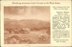 Hambvurg-American Cruise Line's Cruise to the West indies