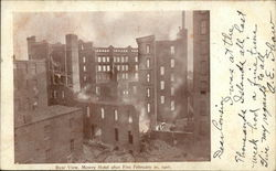 Rear View, Mowry Hotel After Fire, February 10, 1907