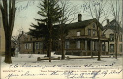 Brown Cottage - Home of Mrs. Mary J. Holmes, authoress
