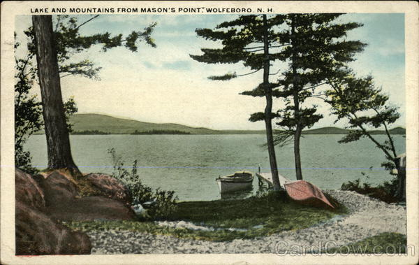 Lake and Mountains from Mason's Point Wolfeboro New Hampshire