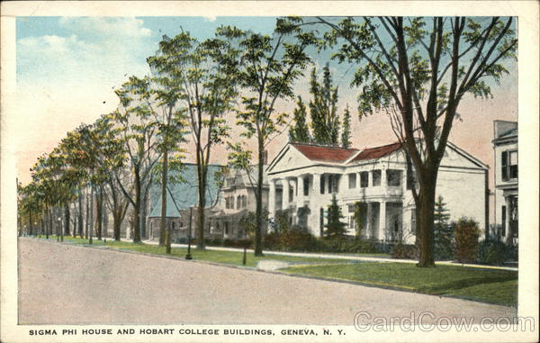 Sigma Phi House and Hobart College Buildings Geneva New York