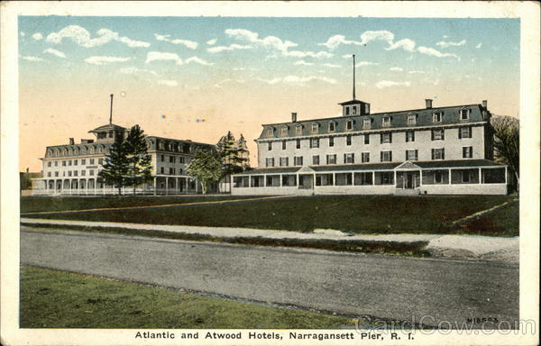 Atlantic and Atwood Hotels Narragansett Rhode Island
