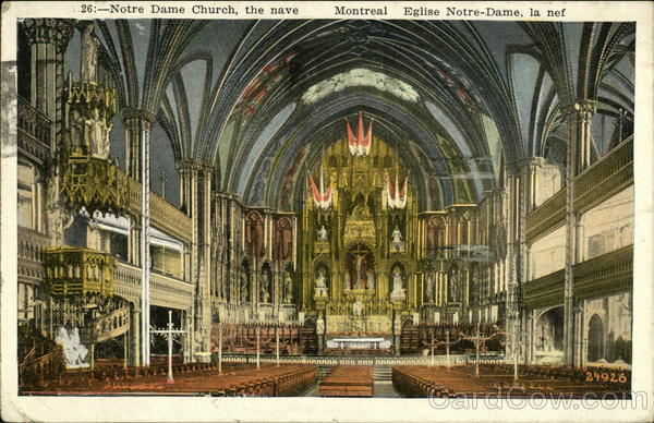 Notre Dame Church - The Nave Montreal Canada Quebec