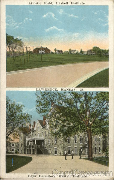 Athletic Field and Boys' Dormitory, Haskell Institute Lawrence Kansas