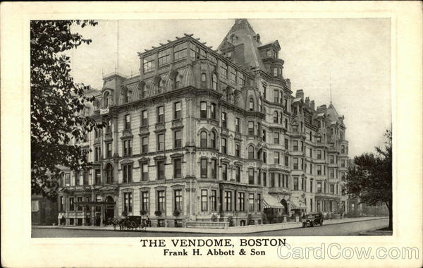 The Vendome by Frank H. Abbot & Son Boston Massachusetts