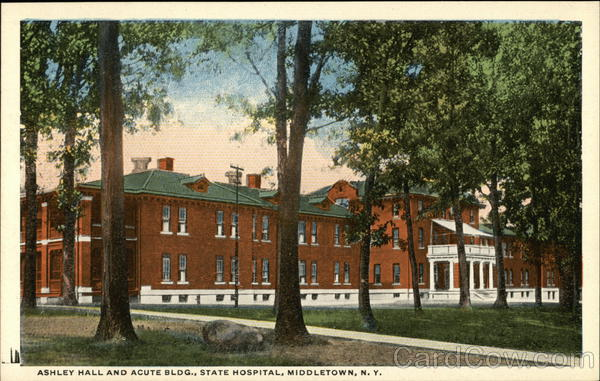 Ashley Hall and Acute Building, State Hospital Middletown New York