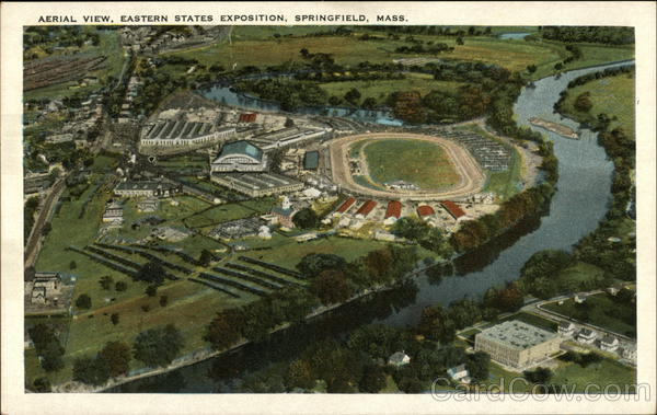 Aerial View Eastern States Exposition Springfield Massachusetts