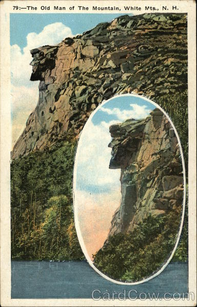 The Old Man Of The Mountain, White Mts. Franconia New Hampshire