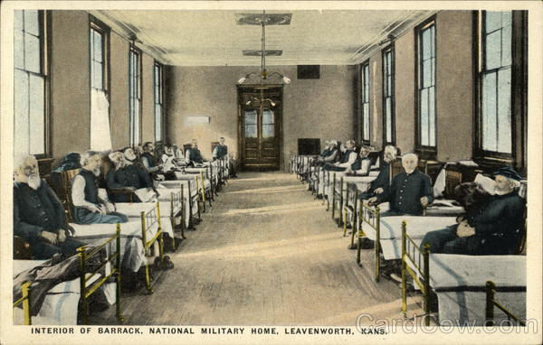 Interior of Barrack, National Military HOme Leavenworth Kansas