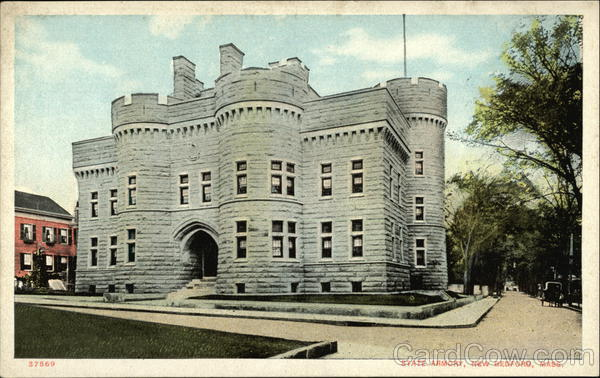 Street View of State Armory New Bedford Massachusetts