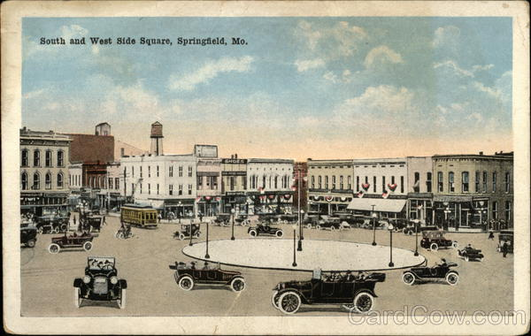 Street View of South and West Side Square Springfield Missouri