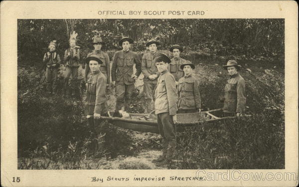 Boy Scouts Improvising Stretcher
