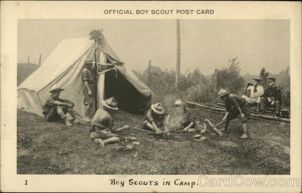 Boy Scouts in Camp