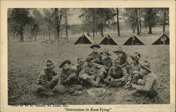 Instruction In Knot-Tying Boy Scouts