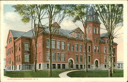 High School and Grounds Postcard