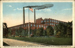 Eastman Kodak Co., Kodak Park, Showing 2 Tallest Chimneys in the United States